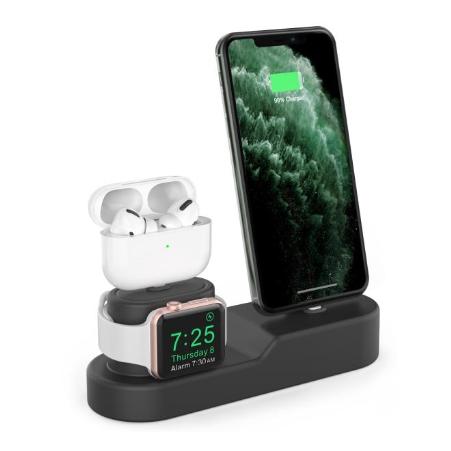 베이드플러스 아이폰 애플워치 에어팟 3in1 실리콘 충전 거치대 PT28