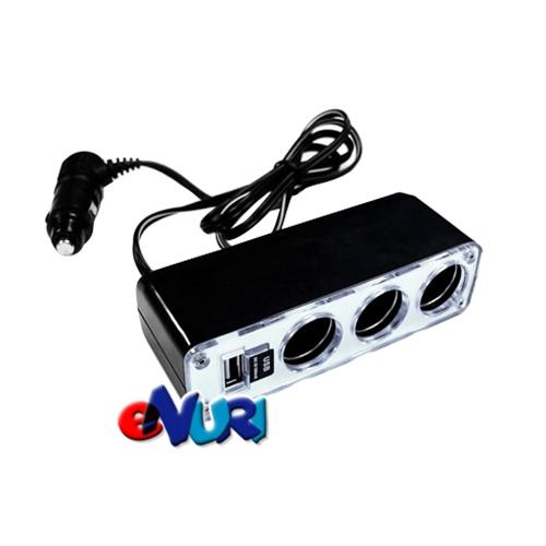 진가드 파워포트 3구 소켓 USB충전기