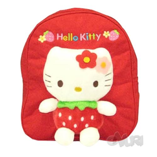 지원콘텐츠 헬로키티 딸기인형 유아배낭