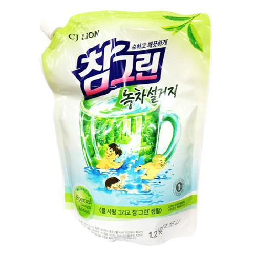 CJ라이온 참그린 녹차설거지 리필 1.15L(1.2kg)[1개]