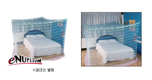 청포도표모기장 침대겸용 사각 모기장[2~3인용]