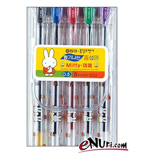 동아연필 미피향기펜 0.5mm 세트[5개]