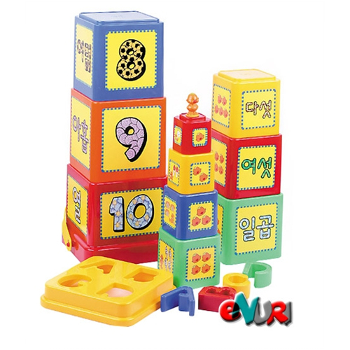 방귀대장 뿡뿡이 탑쌓기 블록