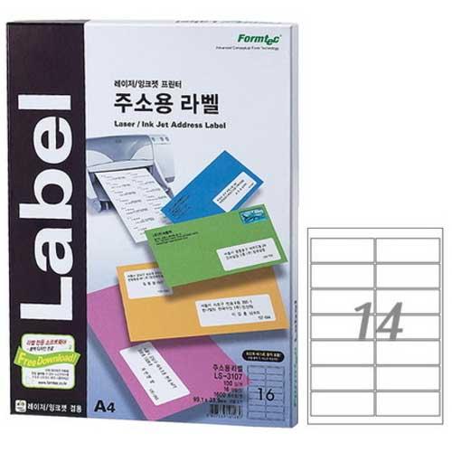한국폼텍 LS-3108[100매]