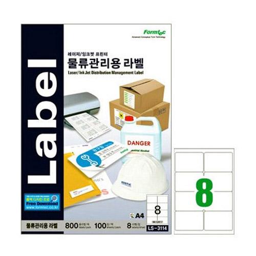 한국폼텍 물류관리용 라벨 LS-3114[100매]